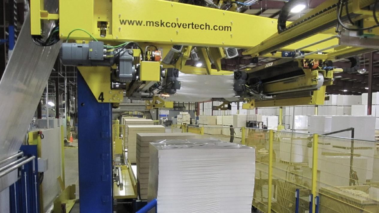 The special MSK coordinate stretching method is ideal for extreme product / pallet dimensions and allows the use of thinner film
