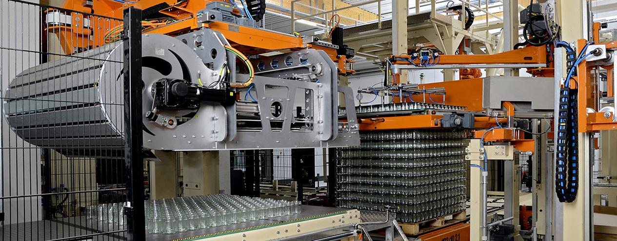 MSK Palletizers & Depalletizers for glass and bottles